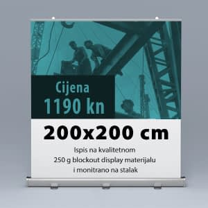 Roll-up 200x200cm 2