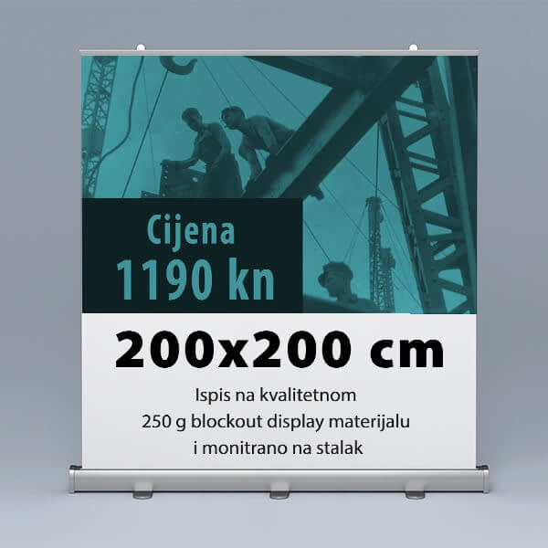 Roll-up 200x200cm 4